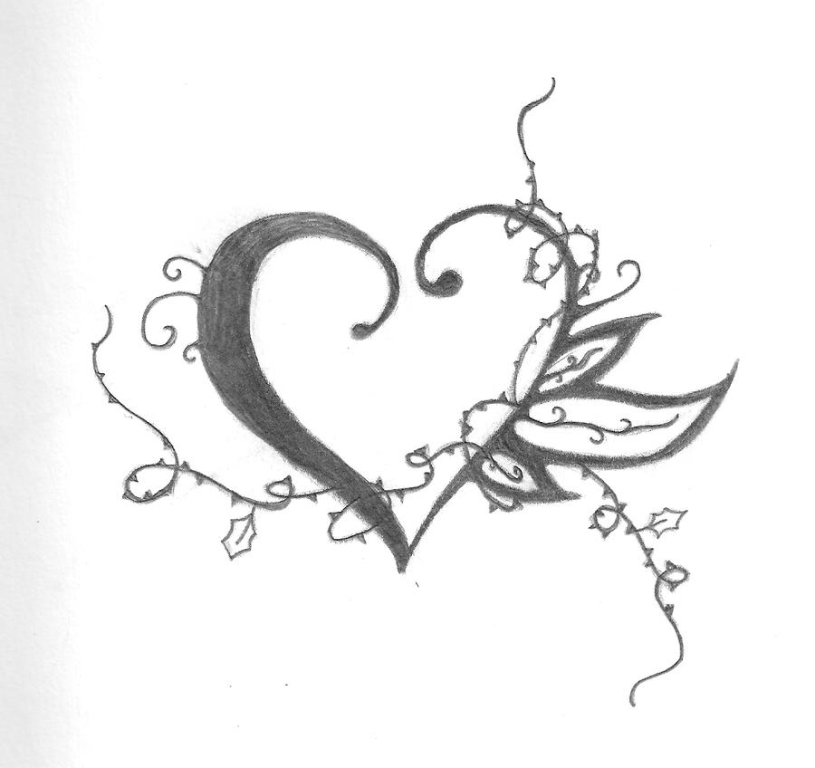 Heart Tattoo Designs to Draw Tattoo Design Heart And Thorns