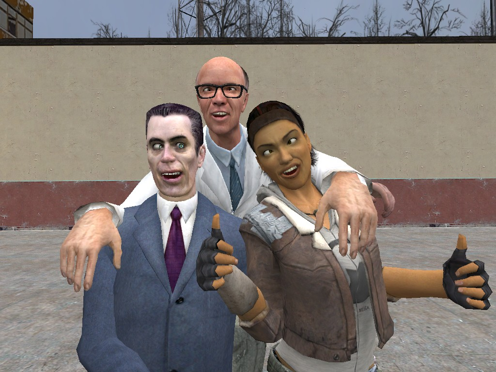 Gman, Dr. Kliner and Alyx by Garrys-Mod-Dude