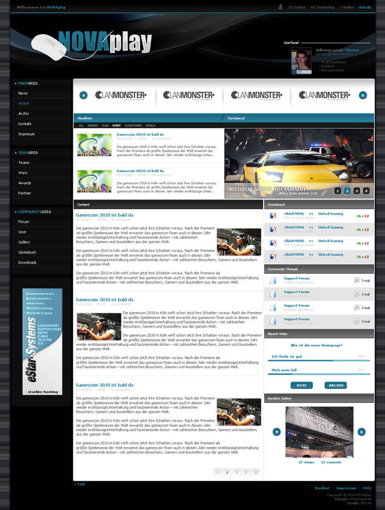 Website eSport 16