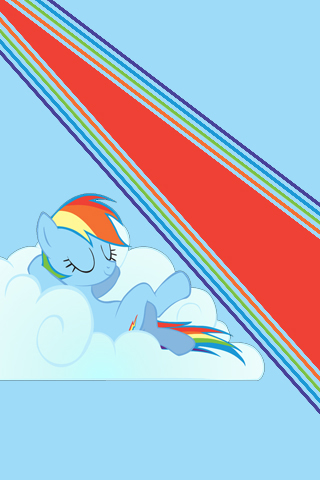 Rainbow Dash Relaxation iPod/iPhone Wallpaper by ...