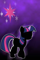 Twilight Sparkle Silhouette iPod/iPhone Wallpaper by AlphaMuppet