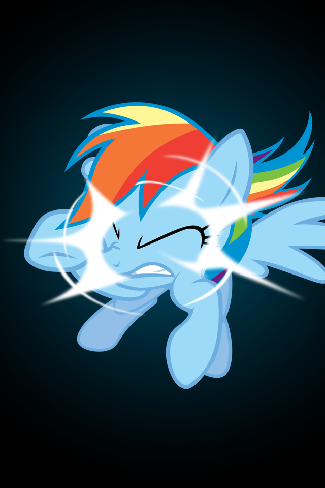 Rainbow Dash Screen Crash iPod/iPhone Wallpaper by AlphaMuppet
