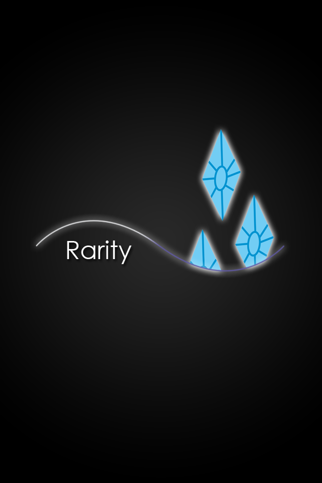 Rarity Glow Lines iPod iPhone Wallpaper by AlphaMuppetRarity Wallpaper Iphone