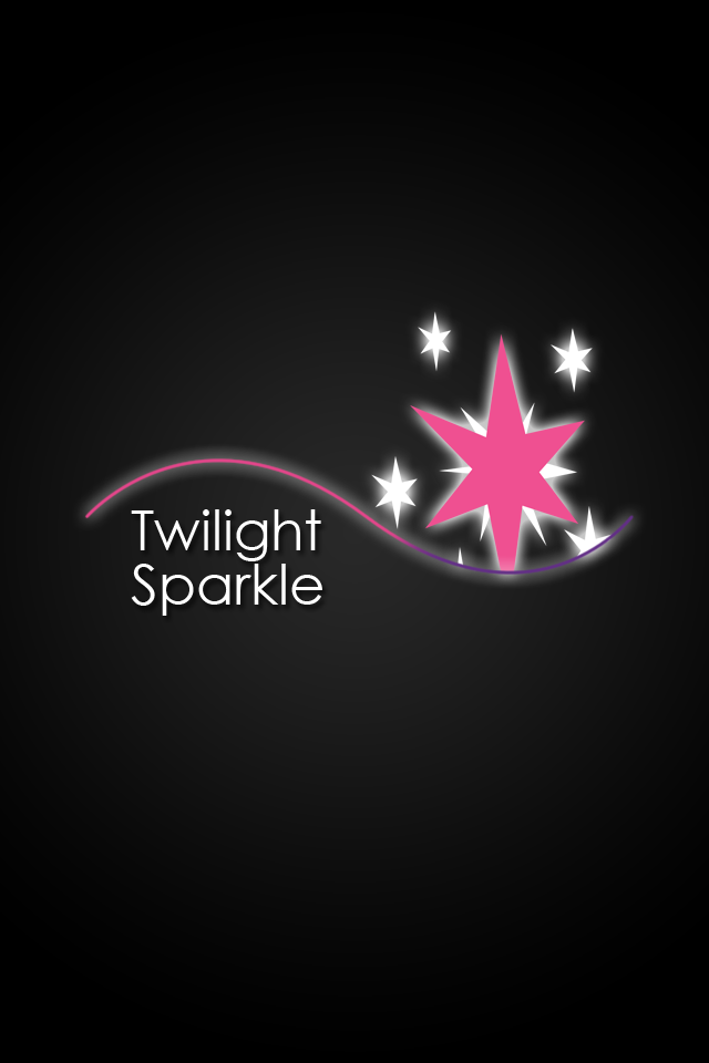 Twilight Sparkle Glow Line iPod/iPhone Wallpaper by ...