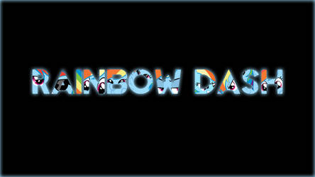 Rainbow Dash Simplistic Name Desktop Wallpaper