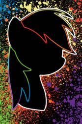 Rainbow Dash Splatter iPod/iPhone Wallpaper