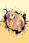 Fluttershy Splatter Circle iPod/iPhone Wallpaper
