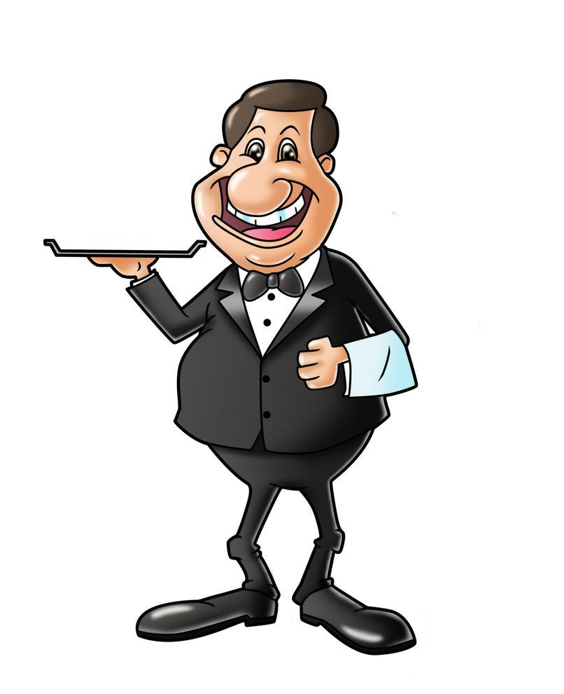 Cartoon Butler - Bing images Butler Servant Clipart