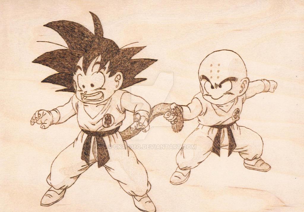 Goku and Krillin by ukas360