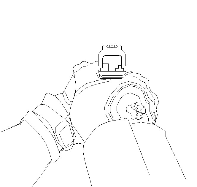 how to draw a person with a gun