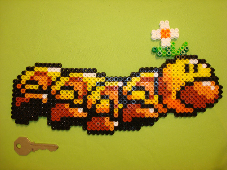 Wiggler in perler beads by chocolatosa88