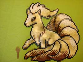 Ninetales in perler by chocolatosa88