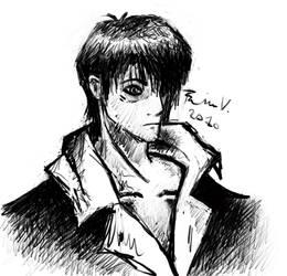 Wolfwood sketch by KuroNekoSama1992