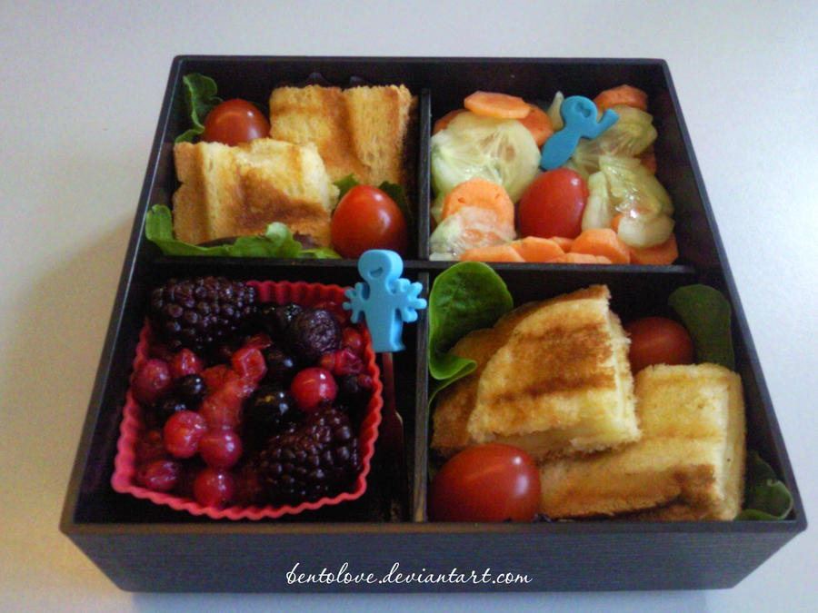 croque monsieur bento by BentoLove