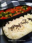 chickpea and tomato salad bento