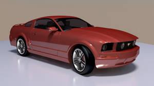 Ford Mustang Blender model
