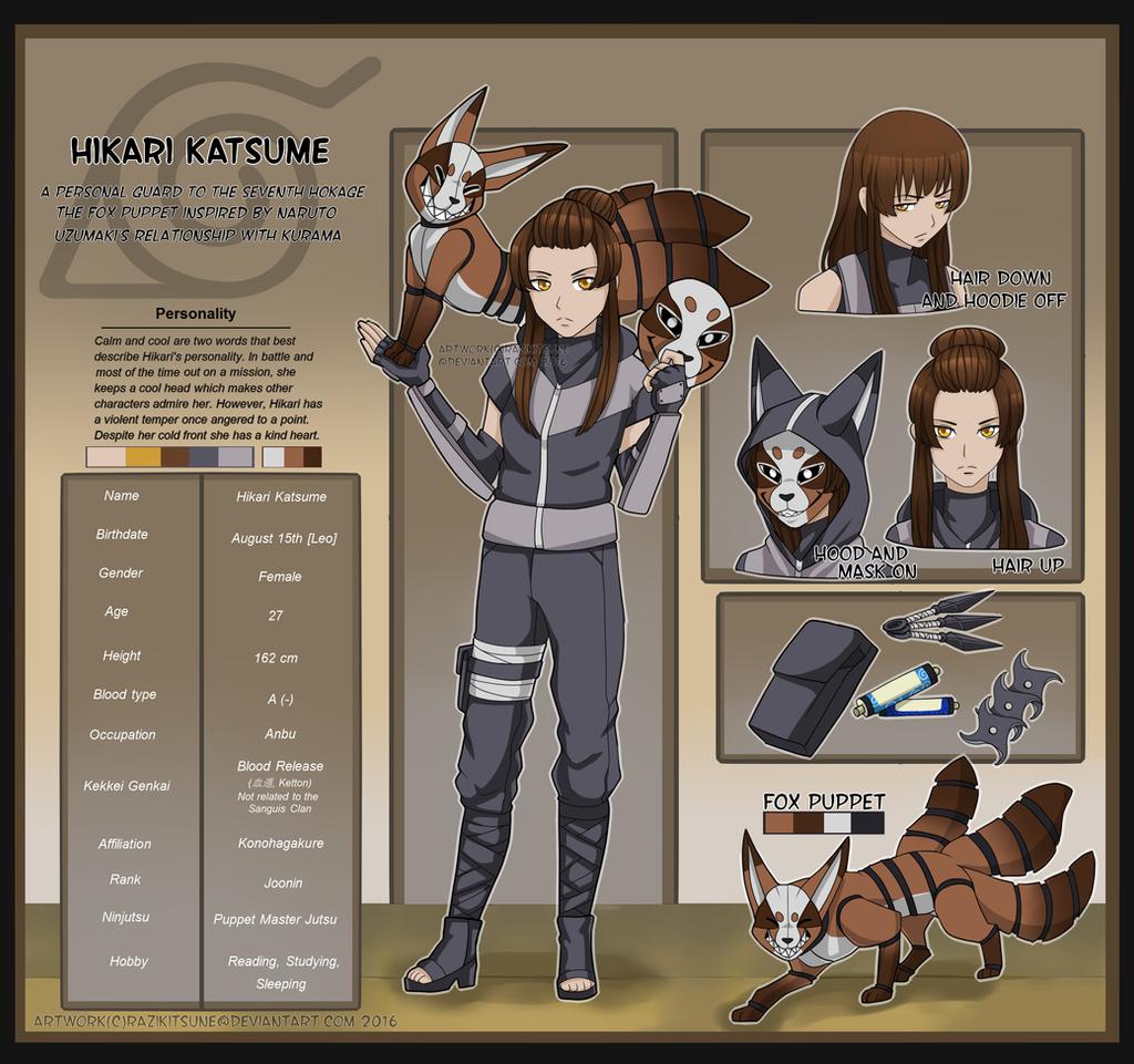Hikari Katsume - Ninja OC by RaziKitsune