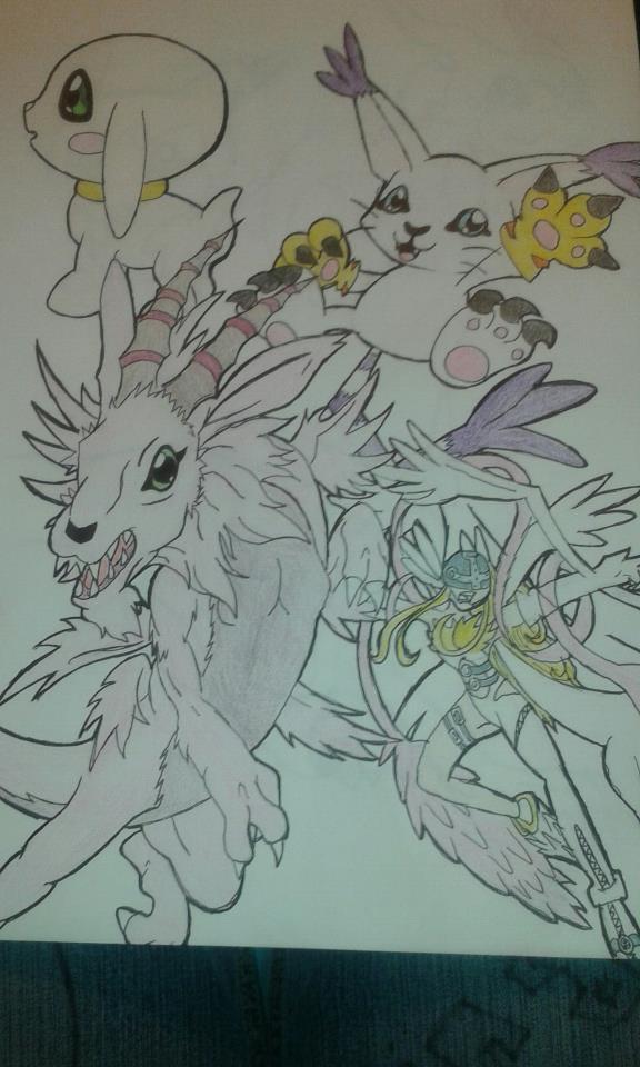 gotomon and its evolutions by RikoriStorm