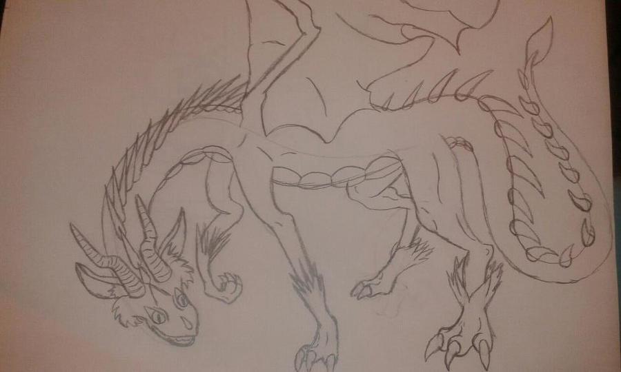 tom as a dragon by RikoriStorm