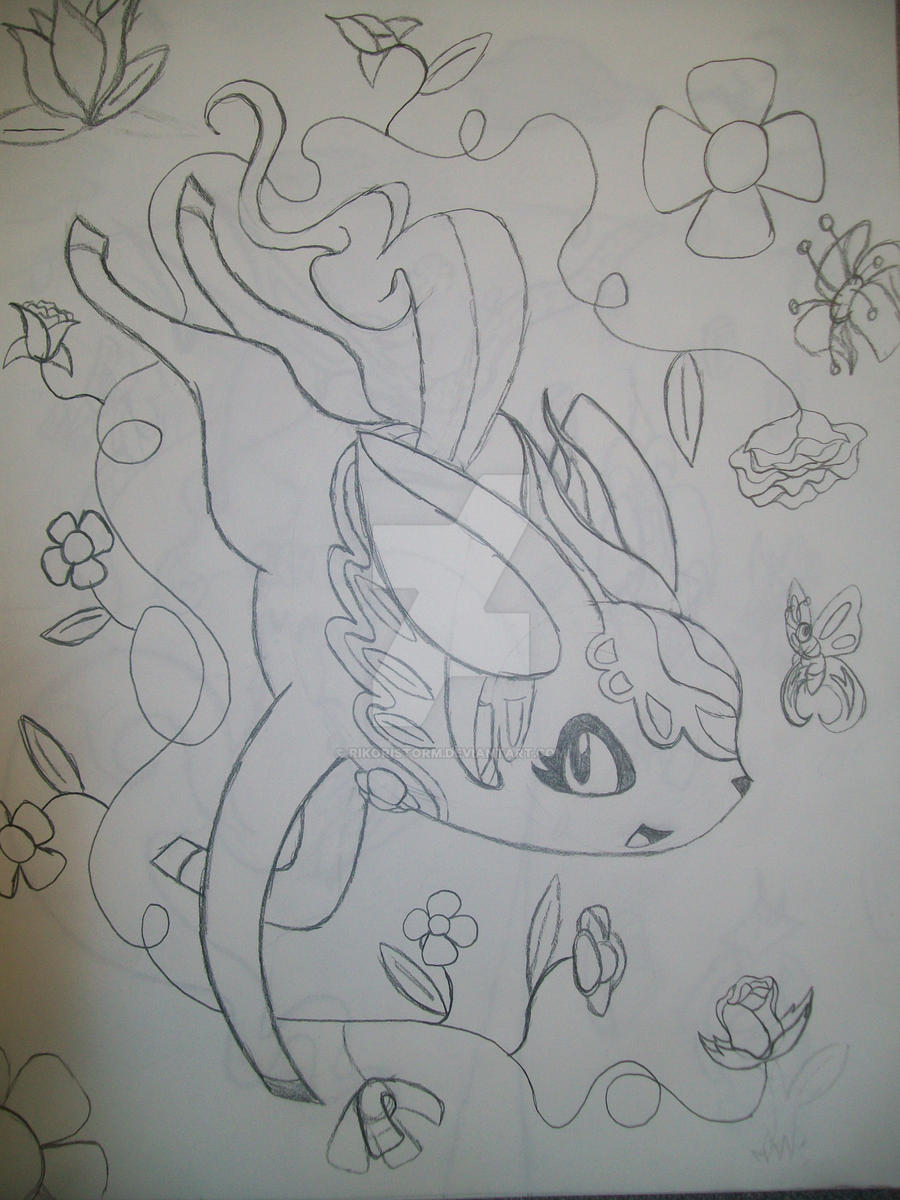 Nature type Tomamon (uncolored) by RikoriStorm