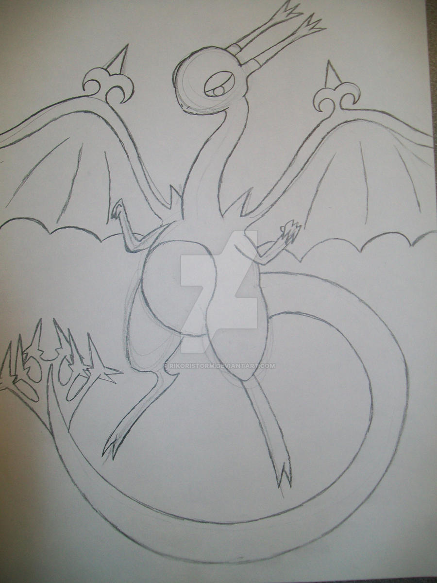 Dark Dragon type Tomamon by RikoriStorm
