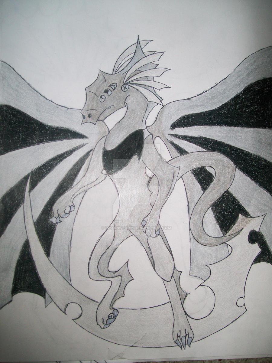 Iron Dragon type Tomamon by RikoriStorm