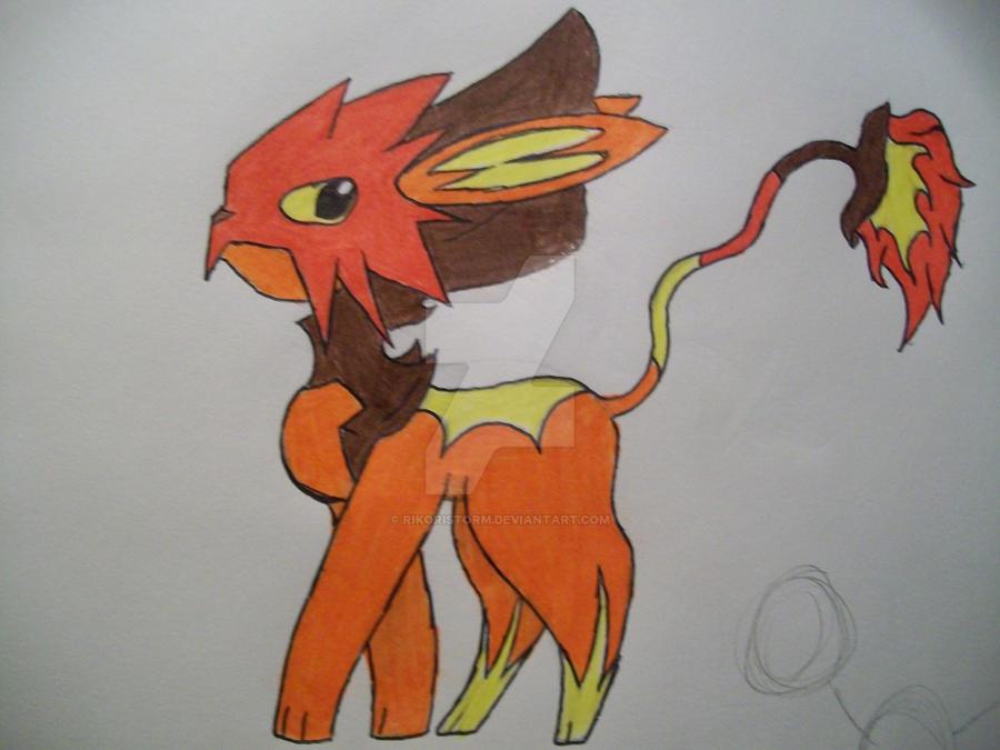 #3 fire Tomamon by RikoriStorm