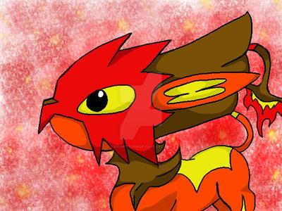 Fire Tomamon by RikoriStorm