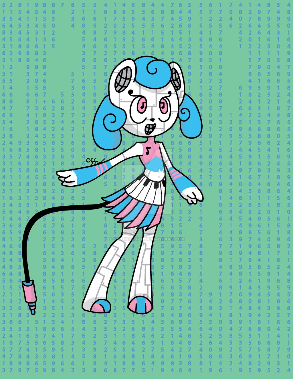 Cyber Melody Lightning/Light type Tomamon by RikoriStorm