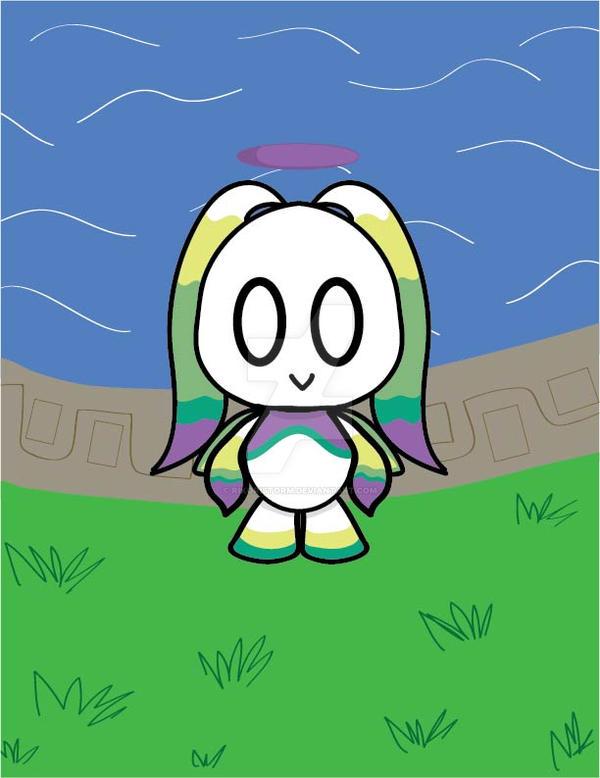 me attempting to draw Swim/Swim Hero Chao by RikoriStorm