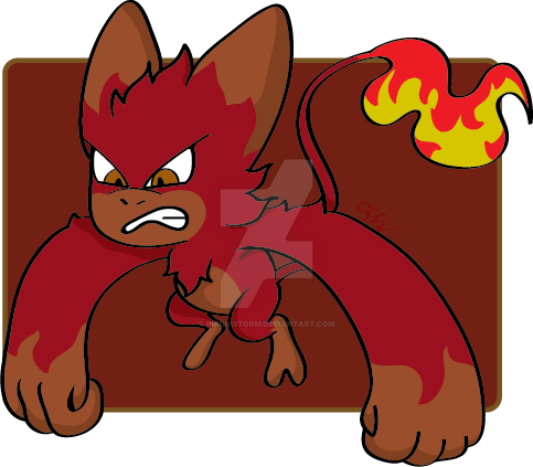 Earth Fire Tomamon Searky by RikoriStorm