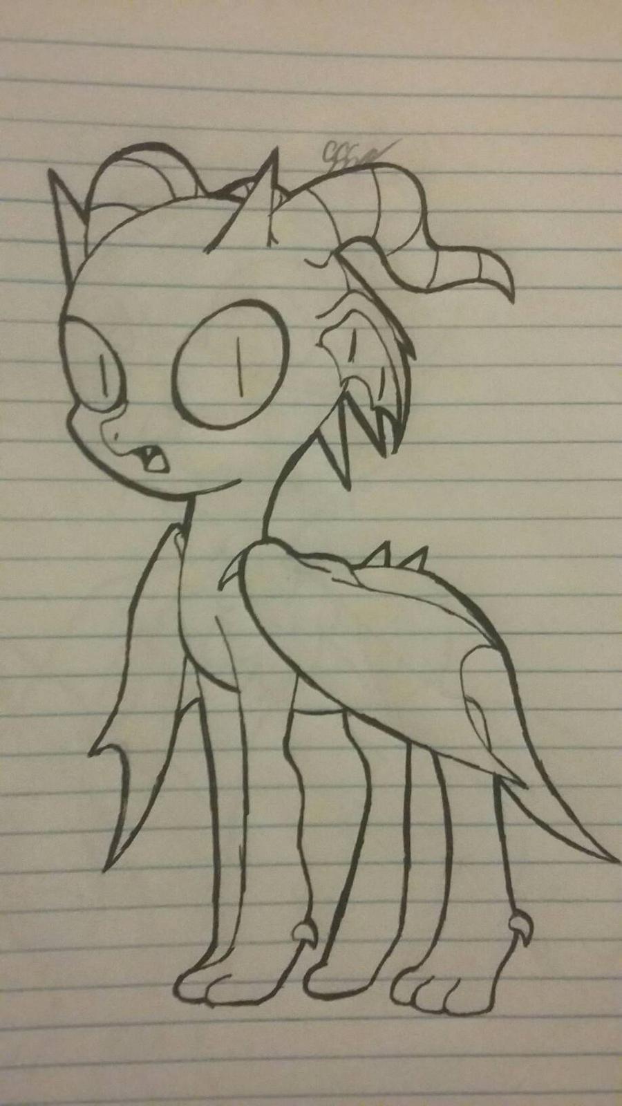 Dragon pony by RikoriStorm