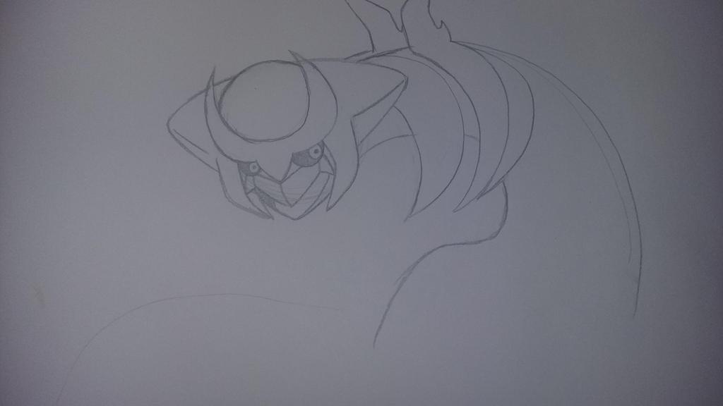 working on giratina  by RikoriStorm