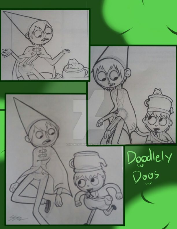 Doodlely Doos (over the garden wall) by RikoriStorm