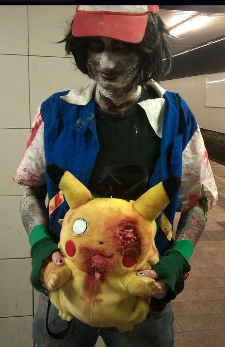 Ash and Pikachu - Copenhagen Zombie Pikachu Eats Ash