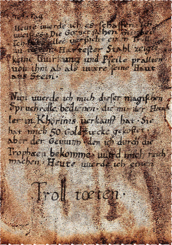 Tagebuchseite (Gothic)