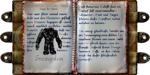 Arkanum Golum Band I (Gothic) (redone)