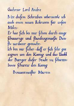 Martins Empfehlungsschreiben (Gothic II - NotR)