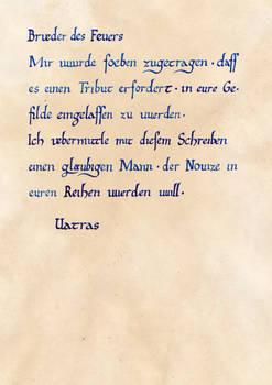 Vatras Empfehlungsschreiben (Gothic II - NotR)