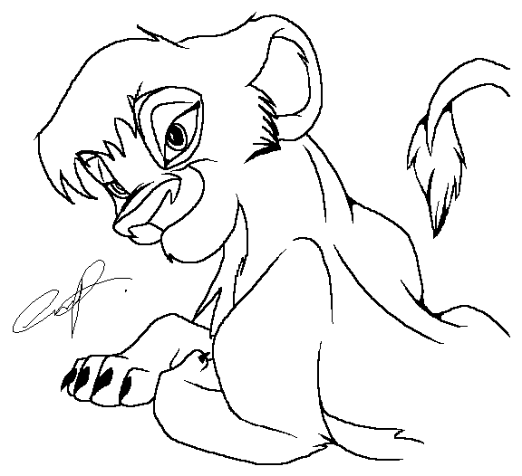 Lion king 2 vitani and kopa coloring pages coloring pages for Lion king kiara coloring pages