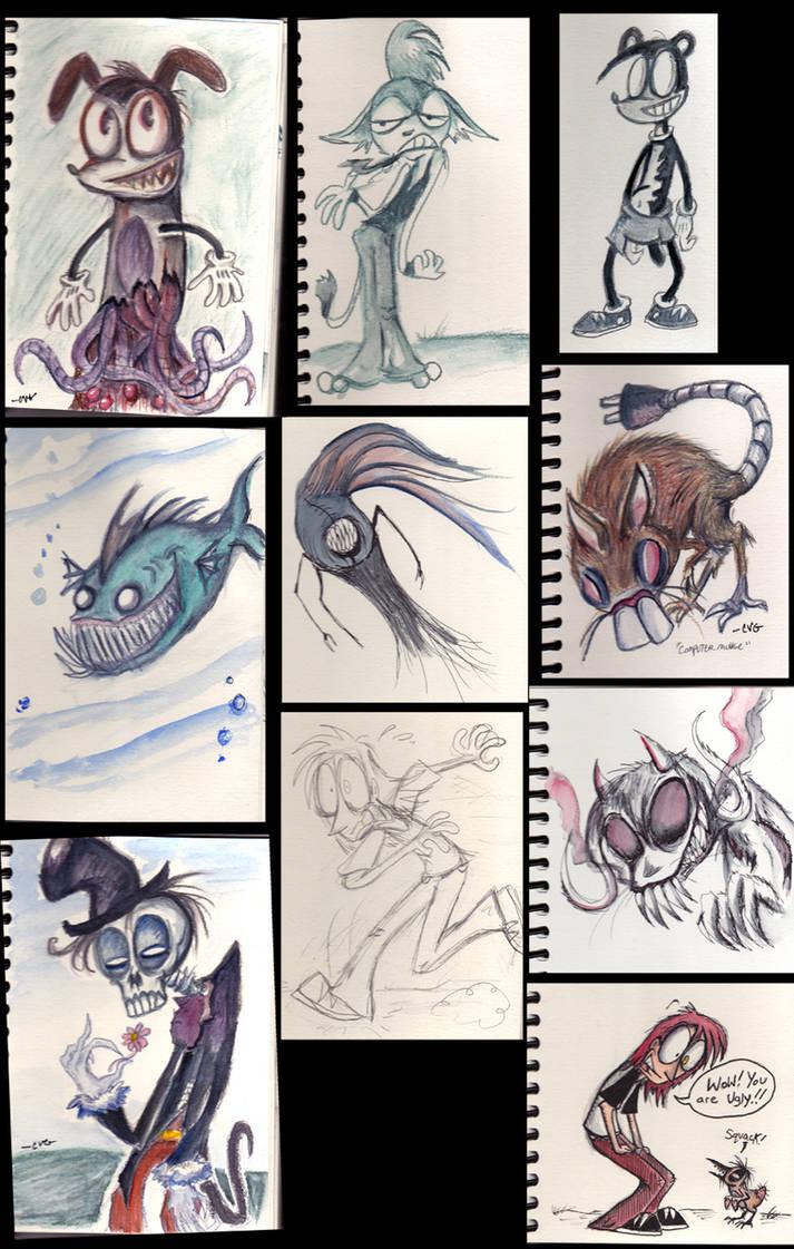 Watercolor pencil sketches by comickpro