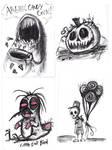 Graphite Doodles 5 -Halloween Edition