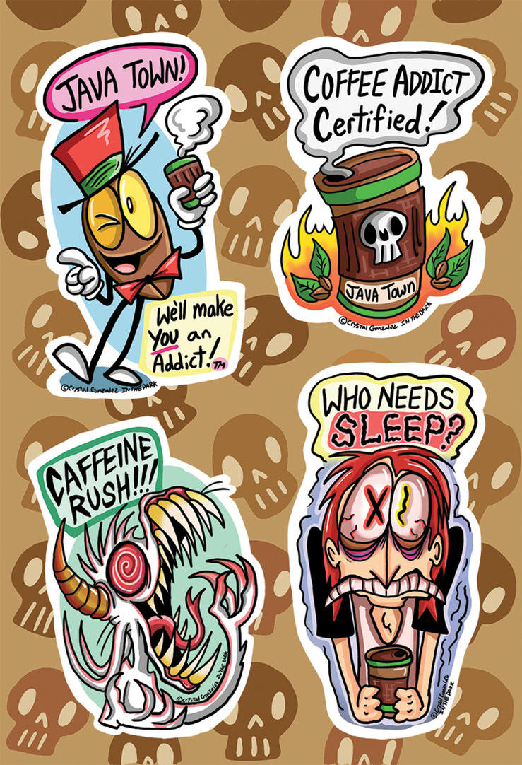 Coffe Time-Sticker Sheet -web by Comickpro