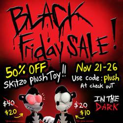 Black Friday Promo-Skitzo Plush by Comickpro