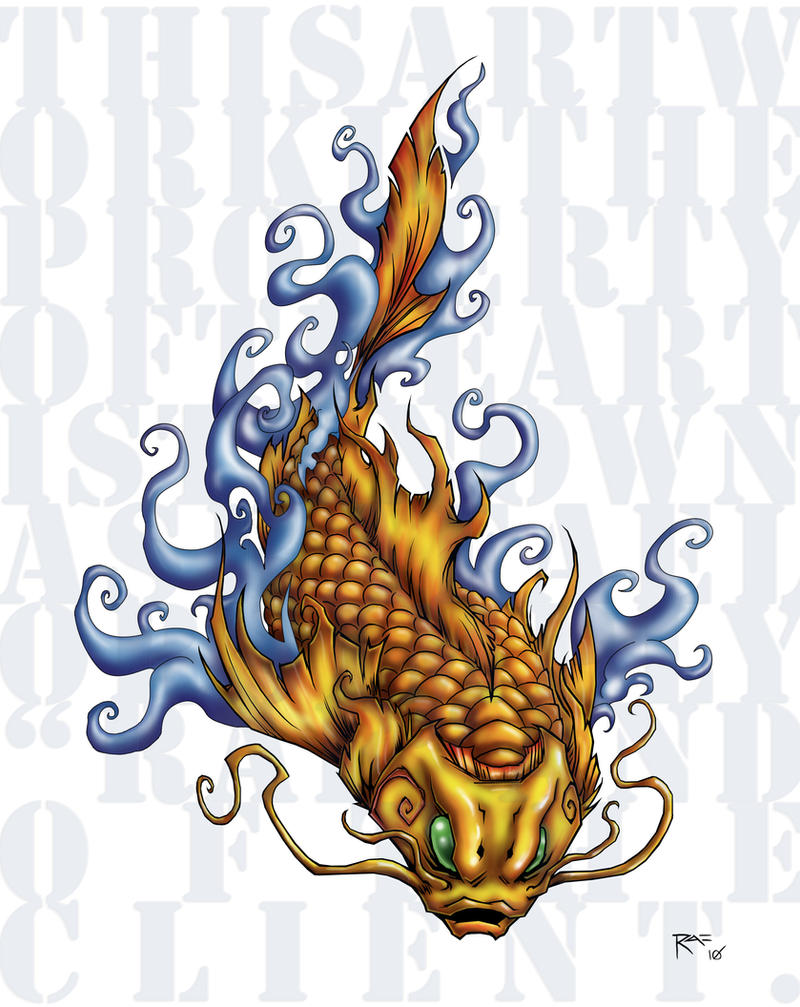 Koi fish tattoo design by iamrafsusername on deviantart for Coy fish designs