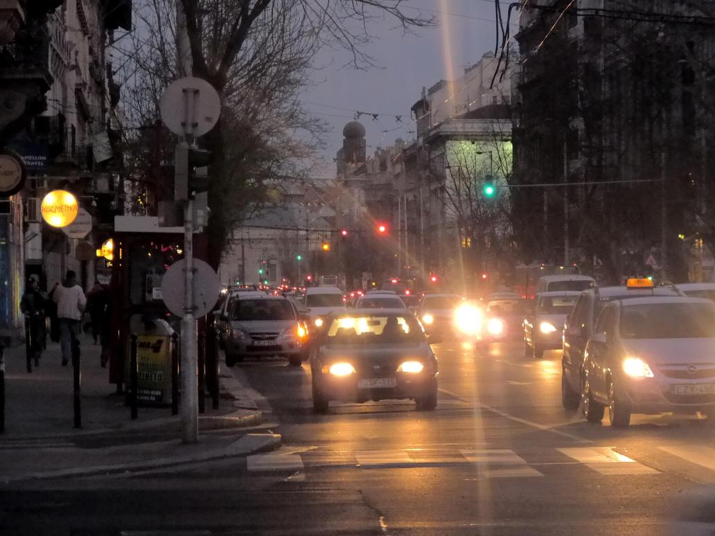 Urban traffic of Bajcsy-Zsilinszky ut (2012.03.13) by Gothpaladinus