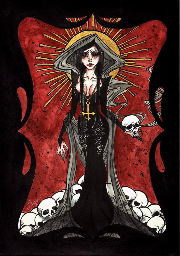 .If Death were a woman. by Aya-Lunar