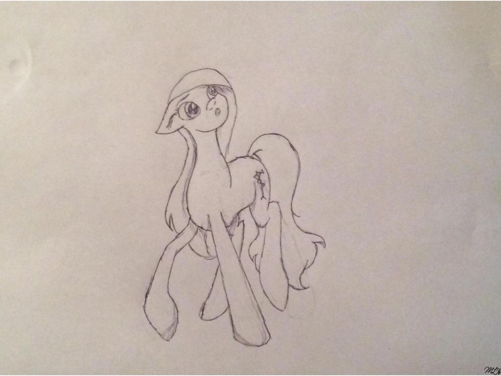 (Untitled Pencil/Pen Sketch) by MamwebyPony
