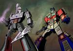 Megatron Vs Optimus by KevinTrentin