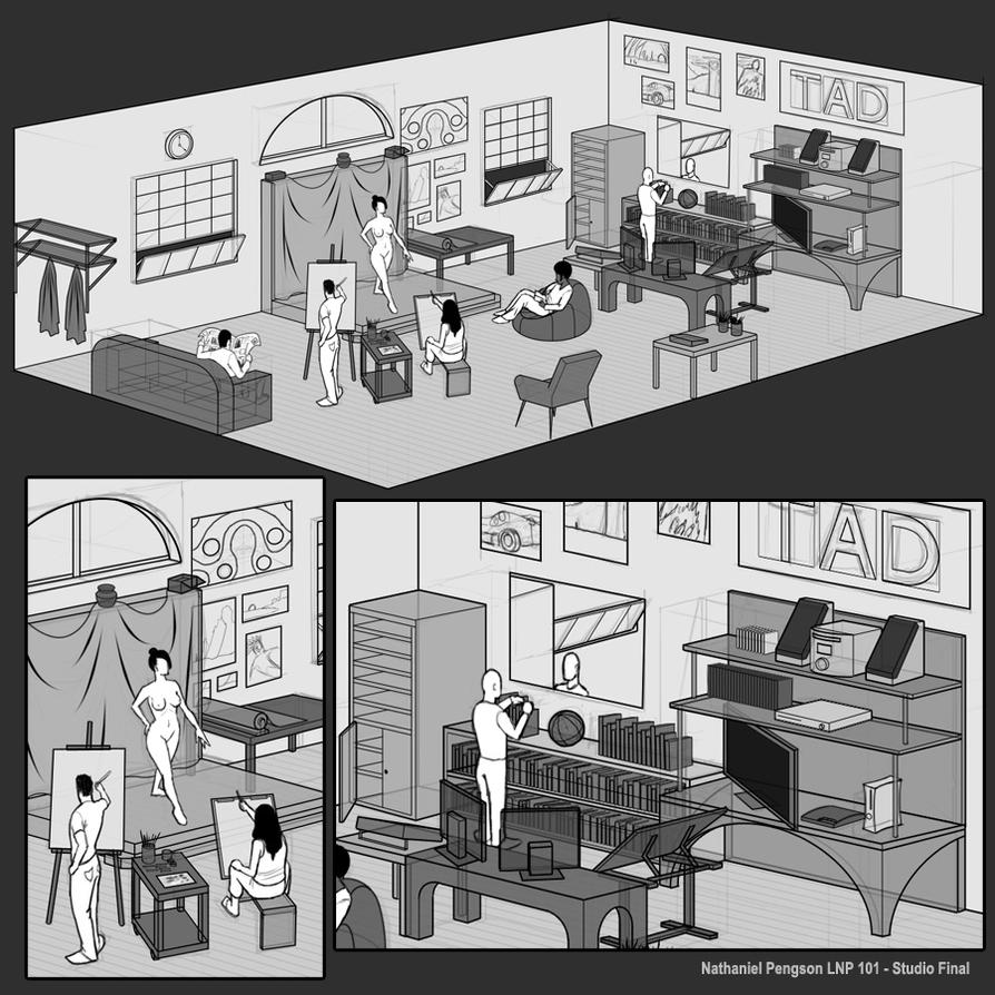 ideal studio by natpen on deviantart. Black Bedroom Furniture Sets. Home Design Ideas